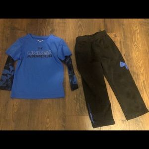 Under Armour blue & black athletic pant set 3t